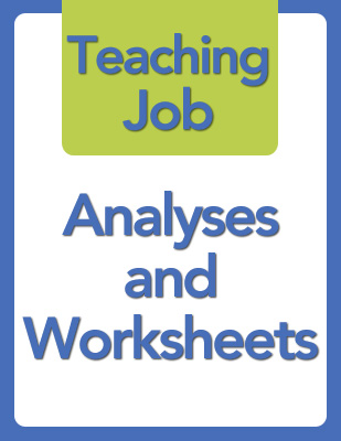 Analyses and Worksheets thumb: Teaching Job