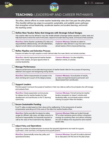 School System 20/20 Checklist: Teaching